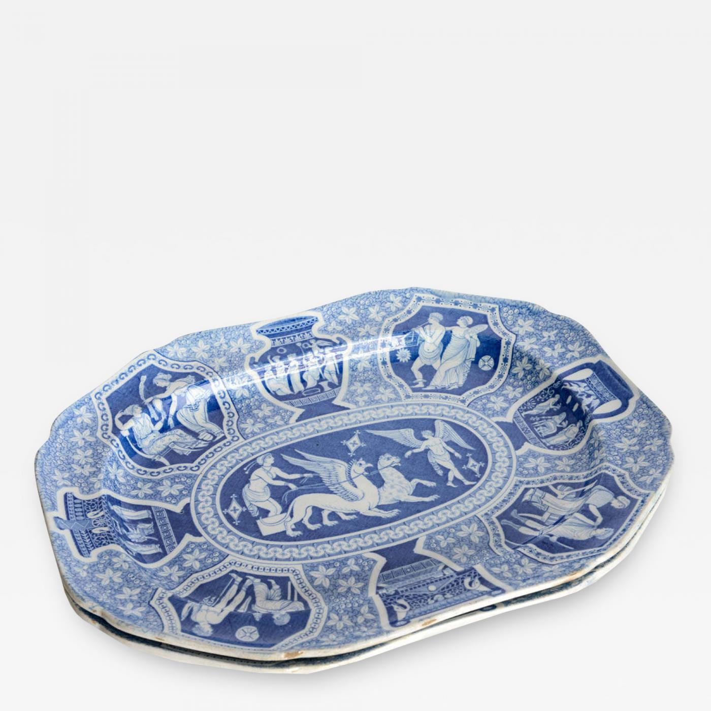 Two Large Spode \ Greek\  Platters England Early 19th Century - Image 2 & Luxury Two Large Spode \