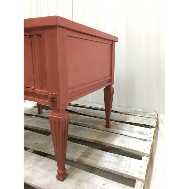 Gordons Inc. Scandinavian Pink Italian Marble Top End Table For Sale - Image 4 of 10