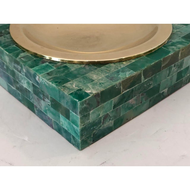 1970s Mid-Century Tessellated Green Stone Catchall, Manner or Karl Springer, C.1970 For Sale - Image 5 of 7