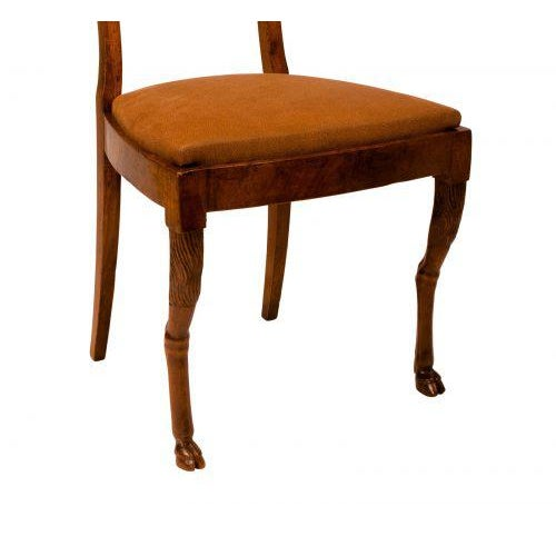Walnut Neoclassical Side Chairs - A Pair For Sale - Image 4 of 7