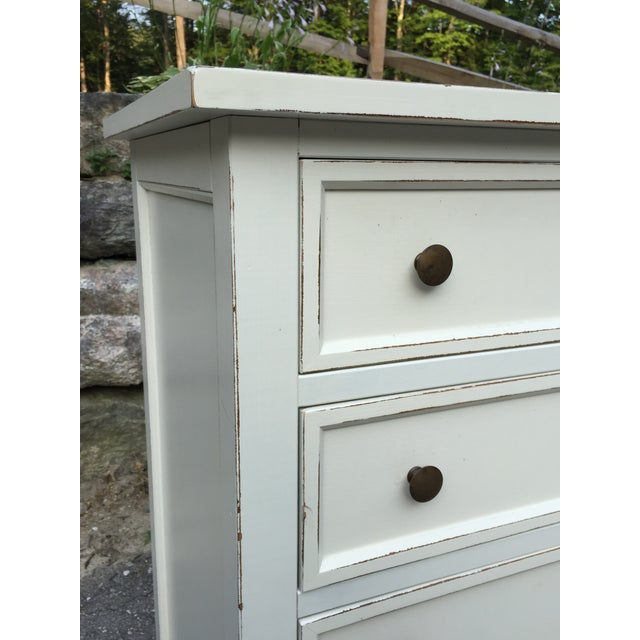 Paint Crate & Barrel White Highboy Dresser For Sale - Image 7 of 10