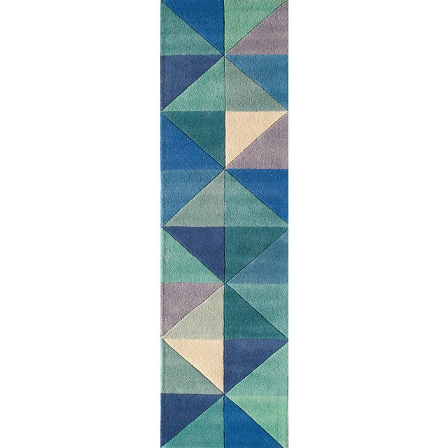 Contemporary Momeni Delhi Hand Tufted Blue Wool Area Rug - 5' X 8' - Image 5 of 6