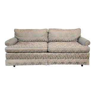 1980s Vintage Baker Baby Blue Sofa