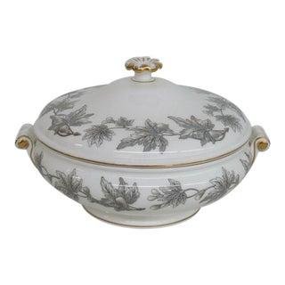 English Wedgwood Ashford Grey Porcelain Lidded Serving Vegetable Bowl Dish For Sale
