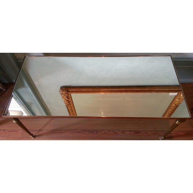 Metal 1960's Pair of Jansen Brass Coffee Tables For Sale - Image 7 of 10