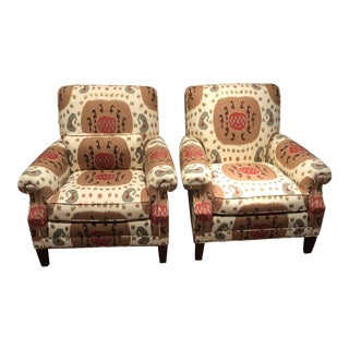 Vintage Brunschwig & Fils Chairs - A Pair For Sale
