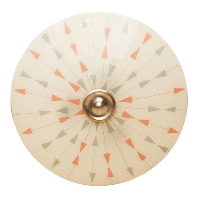 Mid-Century Czech Pendant Lamp, 1958 For Sale
