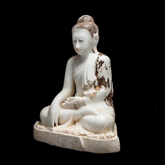 Marble Sculpture of the Seated Buddha For Sale - Image 4 of 6