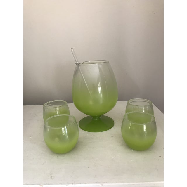 Blendo Cocktail Pitcher & Glasses - Set of 5 For Sale - Image 4 of 9