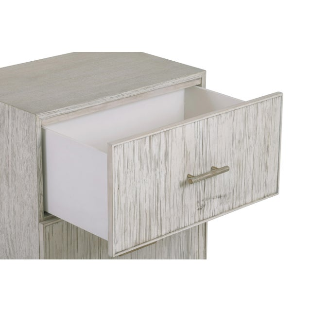 An elegant nightstand from the Century Furniture Bamboo Collection. Crafted of beech solids and oak veneer with crushed...