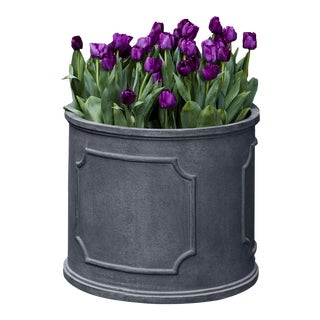 Portchester Round Planter, Small , Lead Lite For Sale