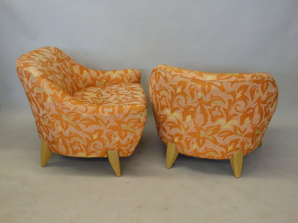 Bon Mid 20th Century Paul Laszlo Attributed Low Wide California Modern Lounge  Chairs For Sale   Image