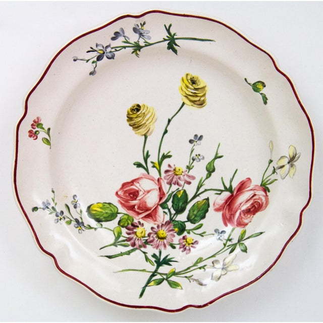 This set of 4 hand painted French Faience - Veuve Perrin pottery bowls are just lovely. Each bowl has a different hand...