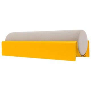 Asa Pingree Monitor Fiberglass Upholstered Bench, Yellow For Sale