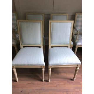 Set of 6 Louis XVI Dining Chairs in the Style of Maison Jansen- Scalamandre Upholstery Preview