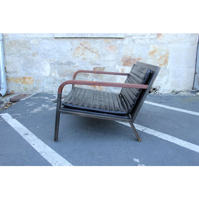 Uhuru Design Breini Black Leather Armchair For Sale - Image 4 of 8