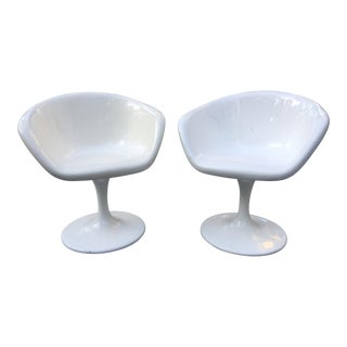 Tulip Swivel Vintage Chairs - A Pair
