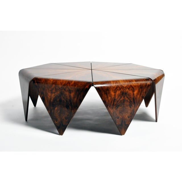 Black Hungarian Walnut Octagonal Coffee Table For Sale - Image 8 of 13
