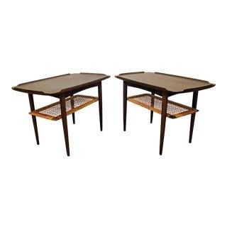 Mid-Century Danish Modern Poul Jensen Selig Teak Side/End Tables - A Pair