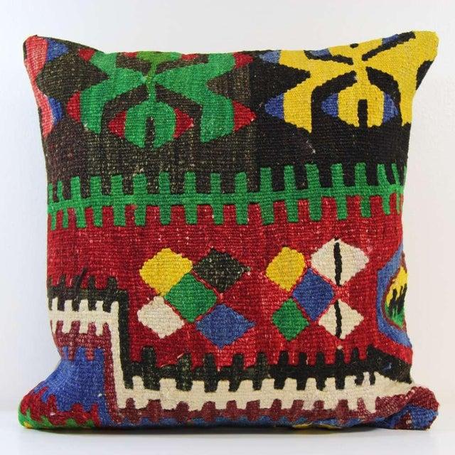 Handmade Kilim Pillowcase - Image 2 of 5