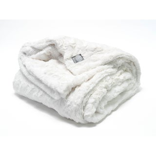 Ivory Faux Fur Minky Throw For Sale