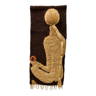 Don Freedman Macrame Wall Hanging of Female Nude