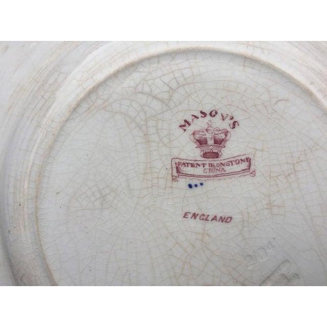 Ceramic Mason's Ironstone England Plate For Sale - Image 7 of 8