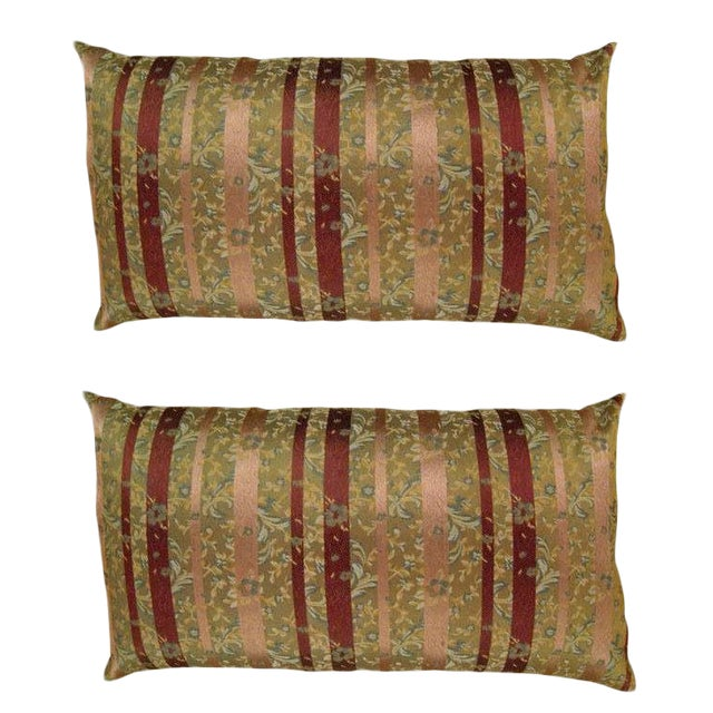 Vintage Chinoiserie Pillows - a Pair For Sale