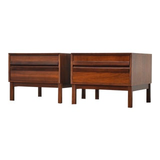 Walnut and Rosewood End Tables - a Pair For Sale