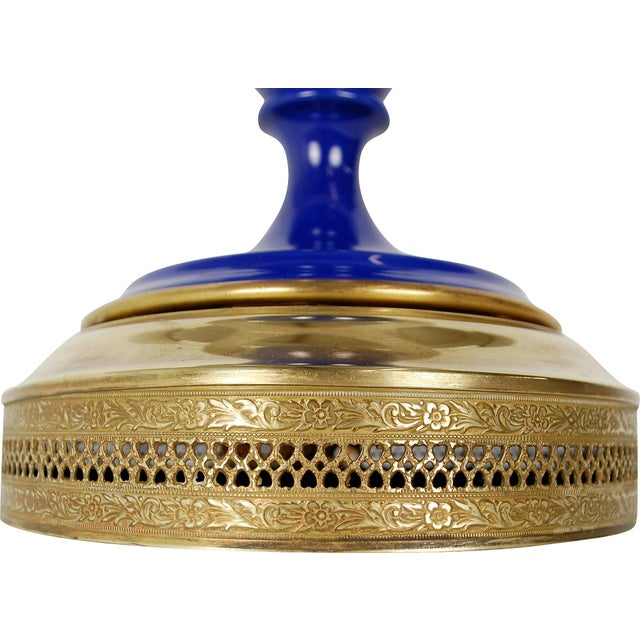 Cobalt Blue Sèvres-Style Lamp - Image 4 of 10