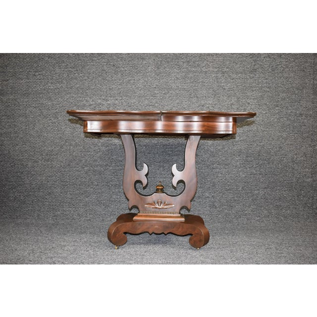 19th Century American Empire Game Table Console Table For Sale - Image 11 of 12