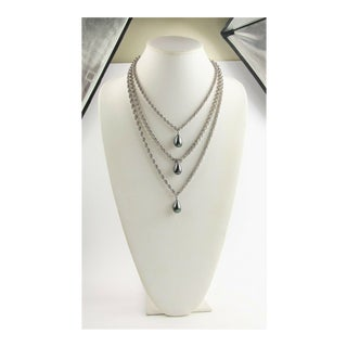 Les Bernard Multi Chain Dangle Necklace For Sale