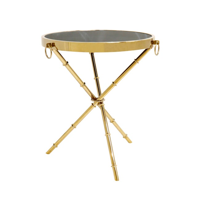 Metal Hollywood Regency Pasargad Home Vicenza Collection Side Table For Sale - Image 7 of 7