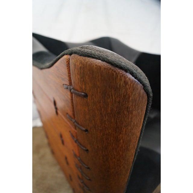Brazilian Walnut Wing Lounge Chair - Image 7 of 10