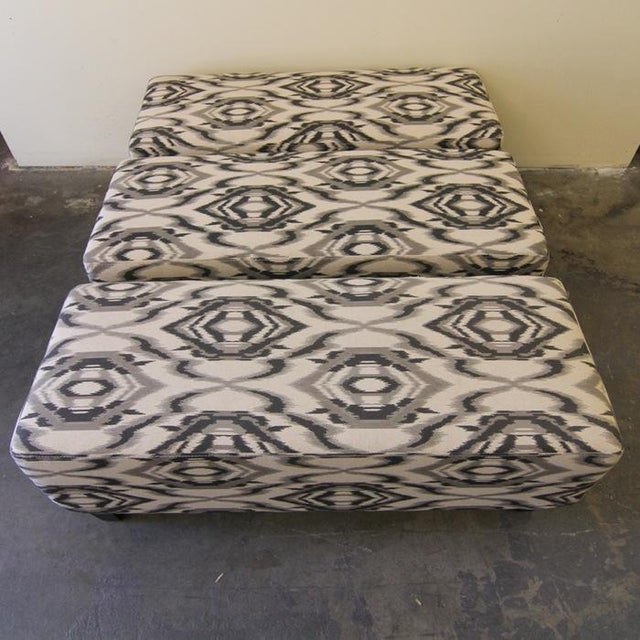 Contemporary White and Grey Ottoman/Stool - Image 4 of 7