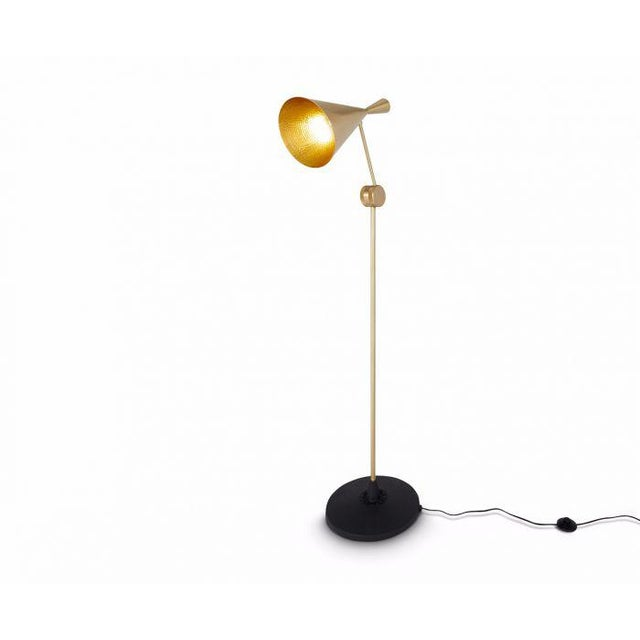 Asian Tom Dixon Beat Floor Lamp Brass For Sale - Image 3 of 6