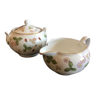 Wedgwood Sugar Bowl and Creamer Set