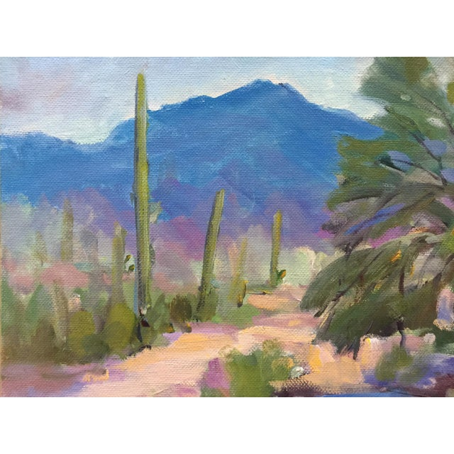 Southwest Landscape With Cactus and Mesquite Tree by Scola - Image 4 of 6