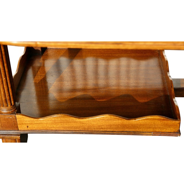 Wood Regency Mahogany Writing Table For Sale - Image 7 of 13