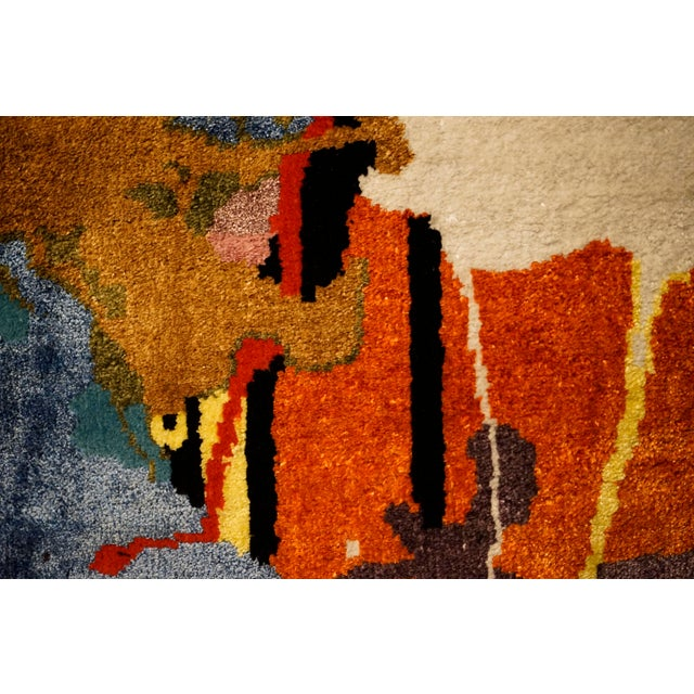 """Boccara Boccara Limited Edition Hand Knotted Artistic Rug, """"Street Art"""" For Sale - Image 4 of 7"""