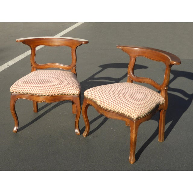 French Country French Country Red Plaid Accent Chairs - A Pair For Sale - Image 3 of 10