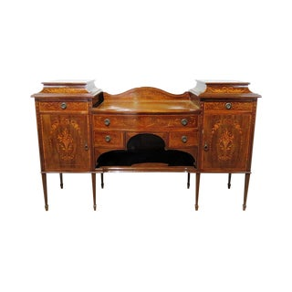 Antique Edwardian Inlaid Sideboard For Sale