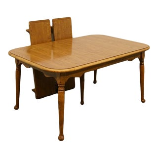 """Traditional Ethan Allen Heirloom Nutmeg Maple American Dining Table - 84"""" For Sale"""