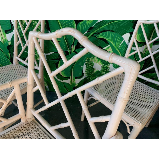Chinese Chippendale Faux Bamboo Dining Chairs - Set of 6 For Sale In Jacksonville, FL - Image 6 of 9