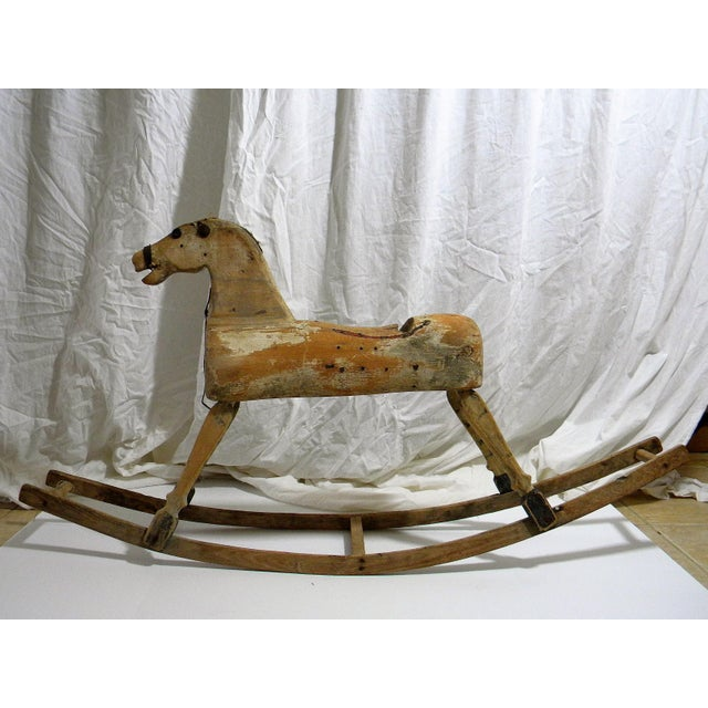 Antique Primitive Rocking Horse For Sale In Milwaukee - Image 6 of 6