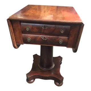Antique Mahogany Empire Work Table For Sale