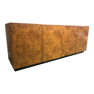 Milo Baughman Burl Wood Sideboard Credenza For Sale
