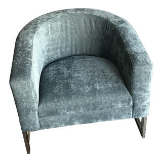 Bernhardt Chrome & Upholstery Side Chair