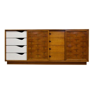 Harvey Probber Mahogany and Brass Dresser For Sale