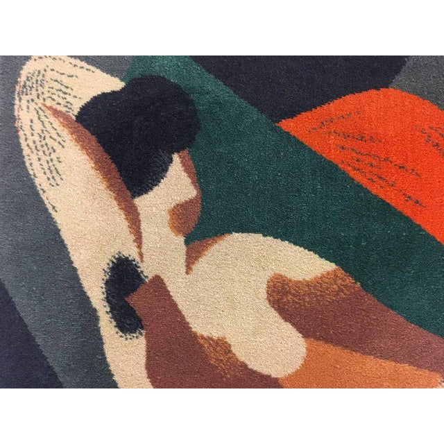 Wool Scandinavian Rug or Tapestry in the Style of René Magritte - Image 4 of 6